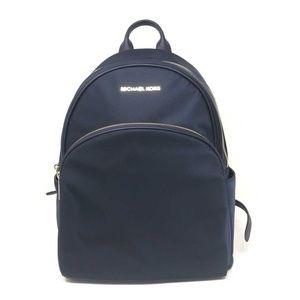 9de68eba6779 ... Michael Kors Abbey Nylon Large Backpack Navy Bag ...